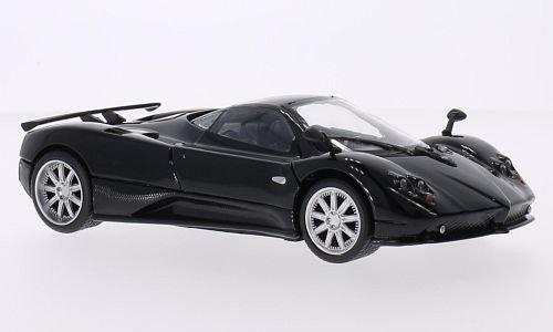 pagani-zonda-f-noire-carbon-voiture-miniature-miniature-deja-montee-motormax-124