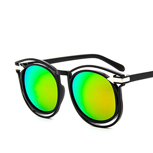 sonnenbrille, liebe frauen, sonnenbrille, neuen stil, elegante persönlichkeit, die koreanische retro, augen, star - brille, runde gesicht,bobbi helle schwarzpulver (stoff)