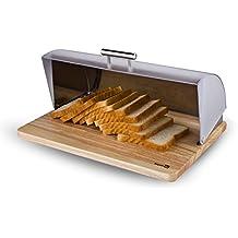 Soporte para rollos de cocina Homiu de acero inoxidable, color plateado Panera