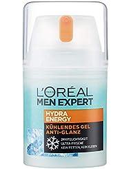 L'Oréal Men Expert Hydra Energy Anti-Glanz Feuchtigkeitspflege, für Männer, mit Matteffekt und kühlender Wirkung ohne fetten (50 ml),