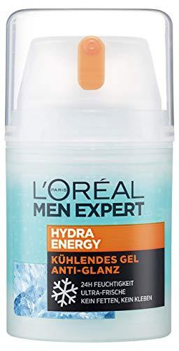 L\'Oréal Men Expert Hydra Energy Anti-Glanz Feuchtigkeitspflege, für Männer, mit Matteffekt und kühlender Wirkung ohne fetten (50 ml),