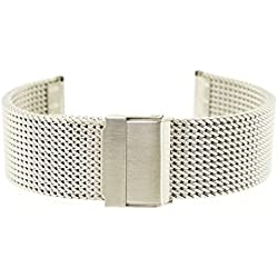 18 mm Eichmüller Stainless Steel M18 Milanese Bracelet with Folding Clasp