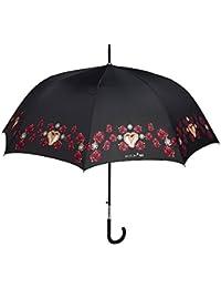 Paraguas Mujer Clásico Maison Perletti – Elegante con Apertura Automática - Acabados Chic con Detalles en