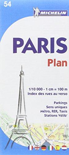 Plan de Paris avec index des rues au verso.