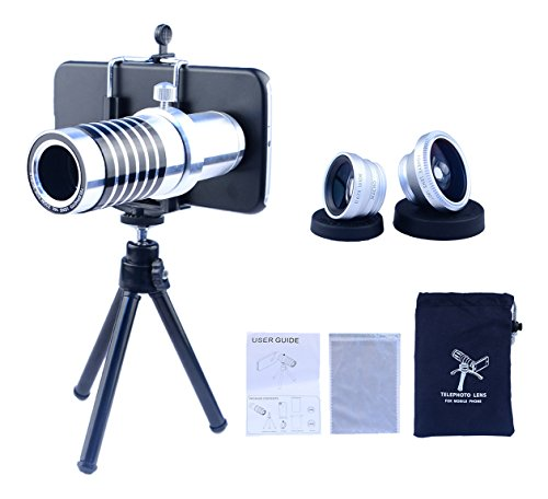 Apexel Samsung Galaxy Note 5 Camera Phone Lens Kit Including 14x Manual Focus Telephoto Lens/ Fisheye Lens/ Wide Angle Lens/Macro Lens with Mini Tripod /Universal Phone Holder / Hard Back Case for Samsung Galaxy Note 5