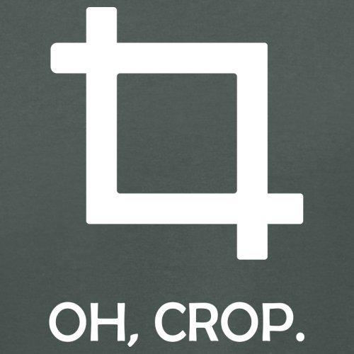 Oh, Crop - Damen T-Shirt - 14 Farben Dunkelgrau