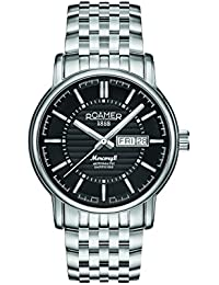Roamer Men's Automatic Watch with Black Dial Analogue Display and Silver Stainless Steel Bracelet 963637 41 55 90