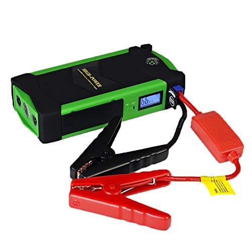 600A coche portátil Jump Starter, 4 salidas de puerto USB, con linterna...