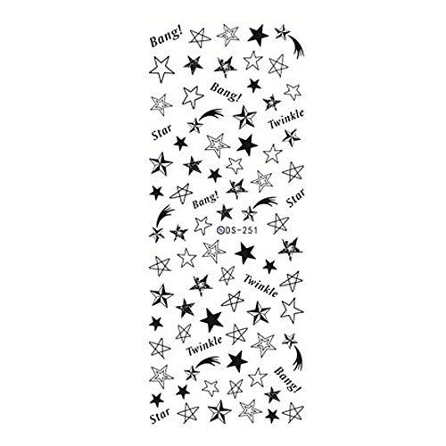 kashyk 1PC3D Drucknagelaufkleber Nagel Aufkleber Abziehbild Kunst- und Weiseblumen-Anstrich-Blume 3D Nagel-Aufkleber-Nagel-Kunst-Abziehbild-Maniküre-Spitzen 3D Nagel-Kunst-Aufkleber Selbstklebende