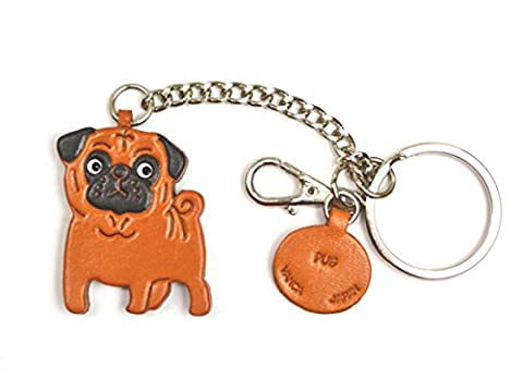 Pug Leather Dog Ring Charm VANCA CRAFT-Collectible Ring Charm Made in Japan