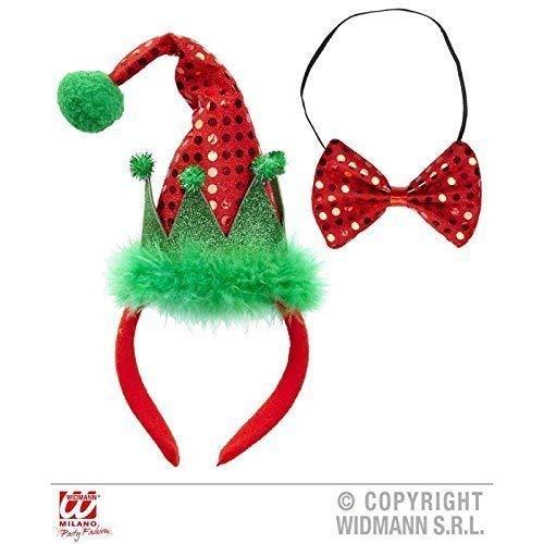 Lively Moments Mini Elfenhut / Weihnachtself auf Haarreif mit Passender ()