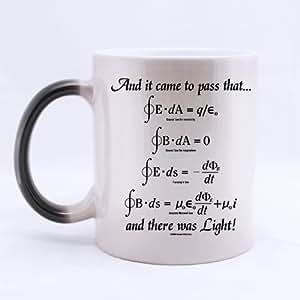 Mathematical Math Formulas Mug, God Said Maxwell Equations and There Was Light Color Changing Mug Morphing Coffee Mugs Cup - 11oz sizes by Funny Mugs