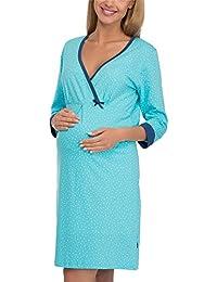 98839e606 Cornette Premamá Camisón Lactancia Vestido de Casa Mujer ...