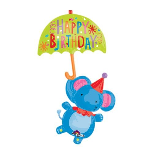 Amscan International 8.349.744,5cm Circus Elefant Happy Birthday Super Form (Halloween Tv Kostüme Zeichen)