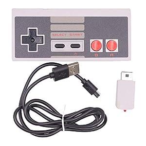 Mini Kabellos Gamepad Griff Joystick, Gaming Controller für Classic NES Spielkonsolen