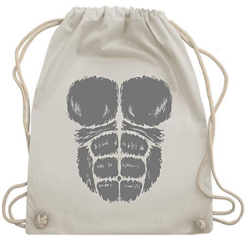 Weiße Gorilla Kostüm - Karneval & Fasching - Gorilla Kostüm Fasching - Unisize - Naturweiß - WM110 - Turnbeutel & Gym Bag