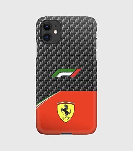 Carbon F1 Ferrari cover per iPhone 12mini, 12, 12 pro, 12 pro max, 11, 11 pro, 11 pro max, XS, X, X max, XR, SE, 7+, 8, 7, 6+, 6, 5