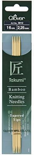 Clover Takumi aiguilles à tricoter tricoter tricoter à double pointe en bambou Aiguilles – par lot de 5 B01CSFAJYG 721b1b