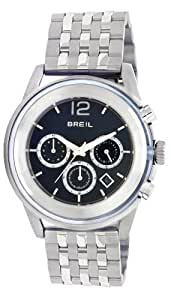 Breil Men's Quartz Watch with Black Dial Analogue Display and Silver Stainless Steel Bracelet TW0957