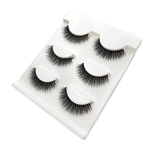 Providethebest Drei Paare 3D-Stretch-falsche Wimpern Dreidimensionale falsche Wimpern Extension Set Beauty-Produkte
