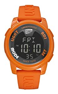 Marc Ecko Unisex Digital Watch with LCD Dial Digital Display and Orange Silicone Strap E07503G9