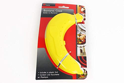 Boîte de conservation pour banane en plastique + fourchette en plastique