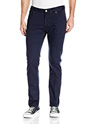 French Connection Mens 5 Pocket Trouser Pant, Marine Blue Reg, 34
