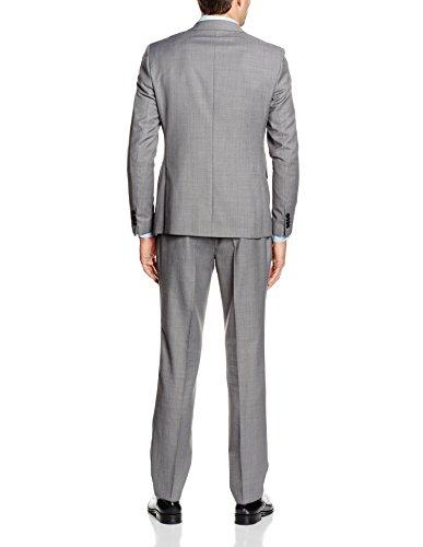 Esprit 056eo2m002 Mit Struktur Und Seitenschlitzen, Costume Homme Gris - Grau (LIGHT GREY 040)