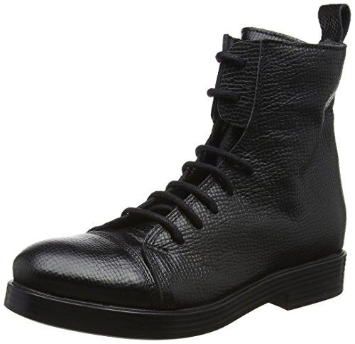 LiliMill Damen Allan Biker Boots, Schwarz (Nero), 37 EU (Damen Italienische Stiefel)