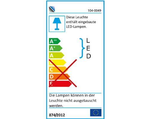 4-tlg. Anbauwand in Akazie dunkel Nachbildung inklusive LED-Beleuchtung, Gesamtmaß der Anbauwand: B/H/T ca. 320/203/40 cm - 4