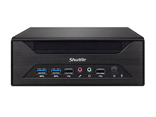 SHUTTLE Barebone XPC slim XH81 Sockel LGA 1150 Haswell  2XDDR3 3XSATA Intel H81 Heatpipe HDMI/DP schwarz
