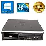 PC Mini Ordenador Fijo con Windows 10 Pro, HP Elite 8000 USDT, Intel Core 2 Duo E8400, RAM 4 GB, HDD 160 GB, Lector de DVD, Puerto VGA (Reacondicionado)