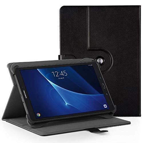 "EasyAcc 360 Grad Drehung Universal 10 Zoll Tablet Case für Acer Iconia One 10 B3-A40/ Lenovo Tab3 10 Plus 10,1 Zoll/Lenovo Tab 2 A10-70/ XIDO Z120/3G 10 Zoll/Medion Lifetab S10321 10.1\"" - Schwarz"