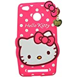 Qzey Nice Hello Kitty Back Cover For Xiamoi Redmi 3S Prime - Pink