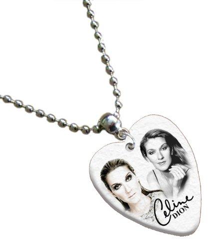 celine-dion-love-heart-guitar-mediators-collier-both-sides-printed