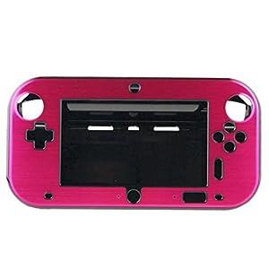 OSTENT Anti-Schock Hard Aluminium Metall Box Cover Case Shell kompatibel für Nintendo Wii U Gamepad Farbe rot
