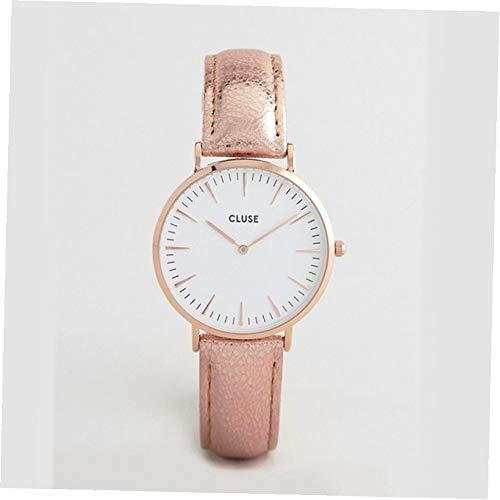 Cluse Unisex Erwachsene Analog Quarz Uhr mit Leder Armband CL18030