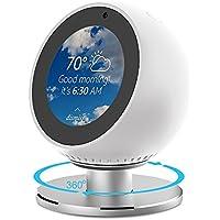 NotoCity Soporte de Echo Spot 360 ° Total Rotación Base de Aluminio Montaje Giratorio para Amazon Echo Spot