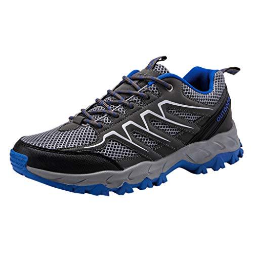 FELEK Herren Outdoor Sprots Schuhe Mesh Wandern Leichte Casual Running Sneakers