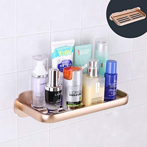 DNKNS Badezimmerregal Badezimmer - Aluminium - Geschirrgestelle zum Waschen von Zubehör - Gestell - Wandregale für Küchen (Color : A)