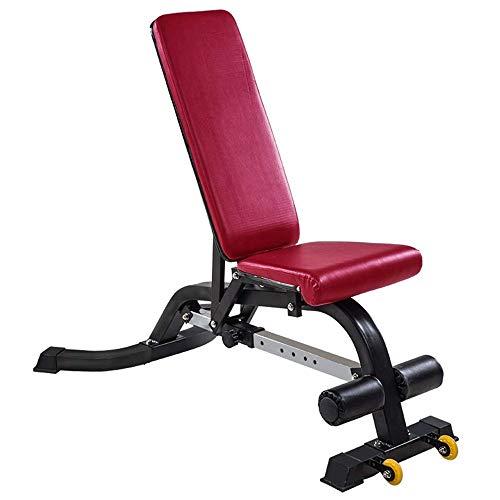 MMPY Sit-up Consiglio, Sit-up Panca Famiglia Training Gym Inclinato Panca Addome Consiglio Regolazione, Colore, Colore Rosso, Formato, 147 * 120 * 75cm (Color : Red)