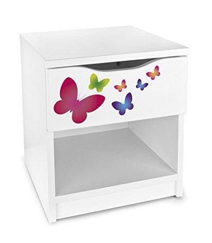 Mesita de noche moderna con el cajón mariposas