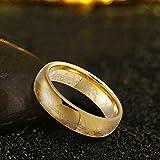 Wolfram Wolframcarbid Herre der Ring Gold fuer Damen und Herren 6 MM, ring_size: 75 (23.9)