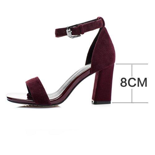 estate glassati scarpe di cuoio con un paio di scarpe, scarpe e sandali, donne e le scarpe Claret
