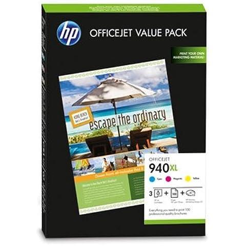 HP 940XL Officejet Brochure Value Pack - confezione da 3