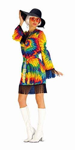 Kind Kern Kostüm - Andrea Moden 822-44/46 Erwachsenenkostüm Hippie, Damen, Mehrfarbig, 44/46