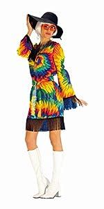 Andrea Moden - Disfraz de hippie para mujer, multicolor