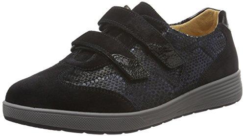 Ganter SENSITIV KLARA, Weite K, Sneakers femme Noir - Schwarz (schwarz / ocean 0130)