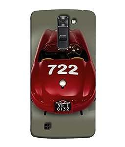 Fuson Designer Back Case Cover for LG K10 :: LG K10 Dual SIM :: LG K10 K420N K430DS K430DSF K430DSY (Driving Fast Racing Wheels Luxury car)
