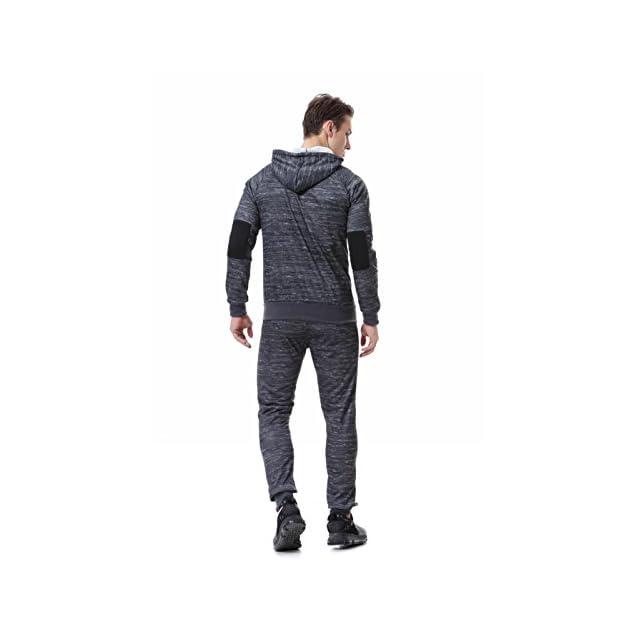 add684d1cd ... AIRAVATA Homme Ensemble Pantalon de Sport Sweatshirt à Capuche Jogging  Survêtement